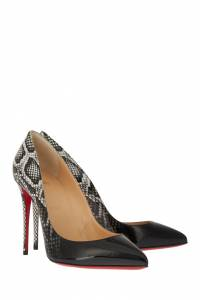 Туфли с принтом Pigalle Follies 100 Christian Louboutin 10665591