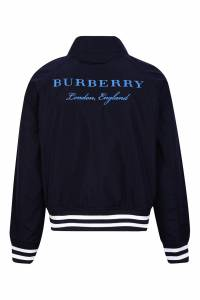 Куртка с контрастной отделкой Burberry Kids 125379604
