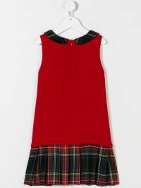 Dolce & Gabbana Kids - tartan trim dress D95LA088939555960000