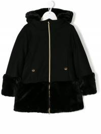 Herno Kids - faux fur panelled coat 696G3966993669395685