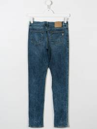 Dondup Kids - TEEN stonewashed tapered jeans A366DS990BT930339300