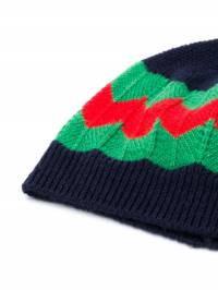 Gucci Kids - wavy Web striped beanie 6655K066939636530000