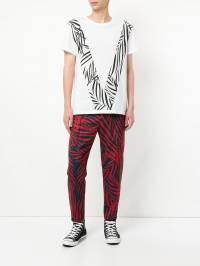 Ports V - palm print tapered trousers TCL33FPP659909659580