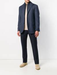 Corneliani - checked funnel neck blazer 55388935689399609800