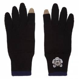 Kenzo Black Tiger Crest Gloves 182387M13500301GB