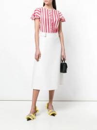 Rochas - striped frill pleat shirt M566365RM08639690336