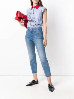 Levi's - mid rise cropped skinny jeans 65683936305990000000