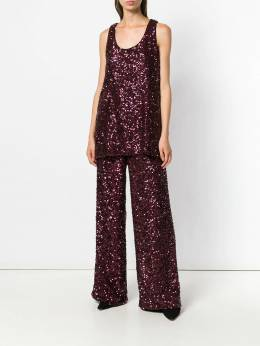 Victoria Victoria Beckham - all over sequin wide leg trousers V683PAW6989368909500