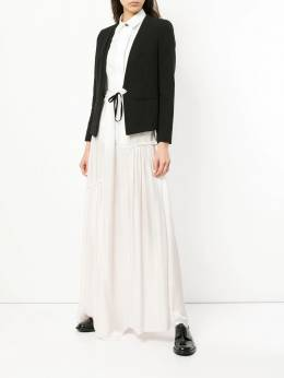 Ann Demeulemeester - asymmetric ruched long skirt 09350P90063693933009
