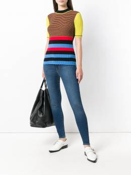 Levi's - mid-rise stretch skinny jeans 99683936363630000000
