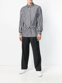 Chalayan - extended placket striped shirt 60FN0699398963800000