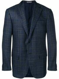 Corneliani - checked single-breasted blazer 06888960669303659300