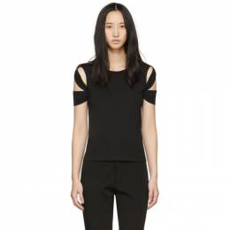 Helmut Lang Black Bondage Sleeve T-Shirt 191154F11003001GB
