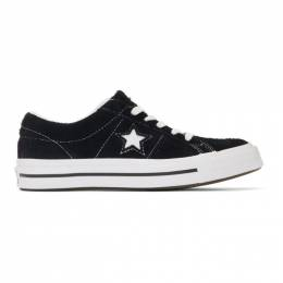 Converse Black and White Vintage Suede One Star Sneakers 191799F12800310GB