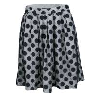 Boutique Moschino Monochrome Polka Dot Tulle Mini Skirt S 133834
