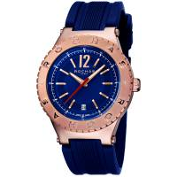 Rochas Blue Rose Gold Plated Stainless Steel RP1G002P0011 Men's Wristwatch 42MM 179633