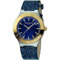 Rochas Blue Gold Plated Stainless Steel RP1L006L0051 Women's Wristwatch 36MM 179642