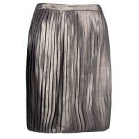 Tory Burch Metallic Pleated Audra Skirt S