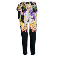 Cavalli Class Multicolor Floral Printed Loose Fit Belted Pants M Roberto Cavalli Class 139669