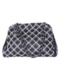 Chanel Bi Color Patent Leather Weaved Just Mademoiselle Bowler Bag