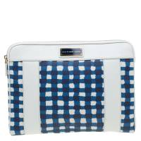 Marc By Marc Jacobs White/Blue Coated Canvas and Leather Notebook Case 57593
