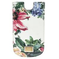 Dolce & Gabbana White Floral Print Patent Leather IPhone 5 Case 140325