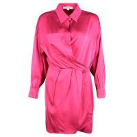 Marc Jacobs Pink Silk Collared Wrap Dress L