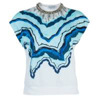 3.1 Phillip Lim Printed Chain Detail Crop Top XS 42105