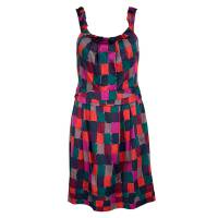 Marc By Marc Jacobs Multicolor Printed Cotton Tumbling Blocks Dress S 105947