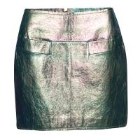 Marc By Marc Jacobs Metallic Iridescent Leather Mini Skirt S