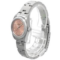Rolex Pink Stainless Steel Oyster Perpetual Women's Wristwatch 24MM 146808