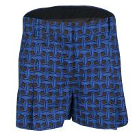Louis Vuitton Blue and Black Printed Denim Pleated Shorts M 139695