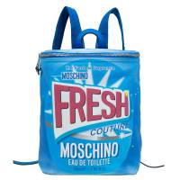 Moschino Blue PVC Fresh Couture Print Backpack 77648