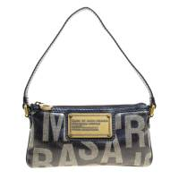 Marc By Marc Jacobs Blue Coated Canvas and Leather Pouch 158027