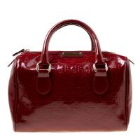 Gianfranco Ferre Red Patent Leather Satchel 175538