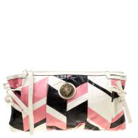 Gucci Multicolor Leather Large Harlequin Patchwork Hysteria Clutch