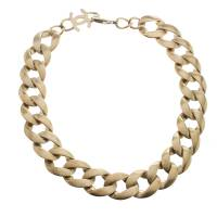 Chanel Gold Tone Chain Link Choker Necklace