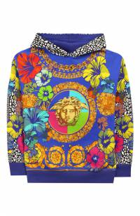 Хлопковое худи Young Versace YVFFE140/YVEF19/8A-S