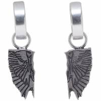Marcelo Burlon County Of Milan Silver Wings Earrings 192539F02200801GB