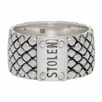 Stolen Girlfriends Club Silver Wide Band Snake Ring 192068M14700703GB