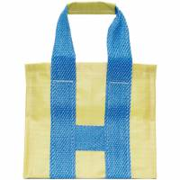 Comme des Garcons Shirt Yellow and Blue Poly Large Tote