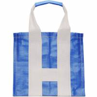 Comme des Garcons Shirt Blue and White Large Poly Tote