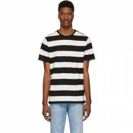 A.P.C. Black and White Striped Archie T-Shirt 191252M21301104GB