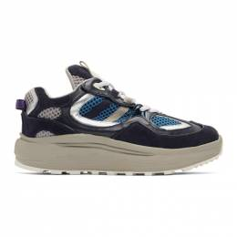 Eytys Navy and Grey Jet Turbo Sneakers 191640M23701305GB