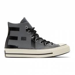 Converse Grey Leather Chuck 70 High Sneakers 191799M23603302GB