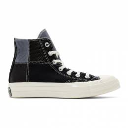Converse Black Patchwork Chuck 70 High Sneakers 191799M23603113GB