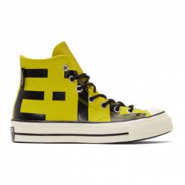 Converse Yellow Leather Chuck 70 High Sneakers 191799M23603201GB