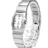 Omega MOP Stainless Steel Constellation Quadrella Women's Wristwatch 19MM 184446