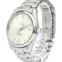 Omega Silver Stainless Steel Seamaster Aqua Terra Men's Wristwatch 39MM 184409