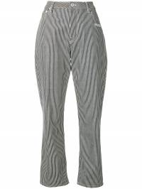 Off-White - stripped tapered trousers A665E98B936603669936